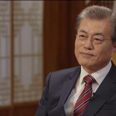 문재인 대통령 촬영의 온라인 게재 보도자료.