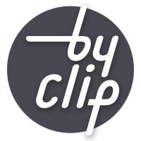 바이클립 로고